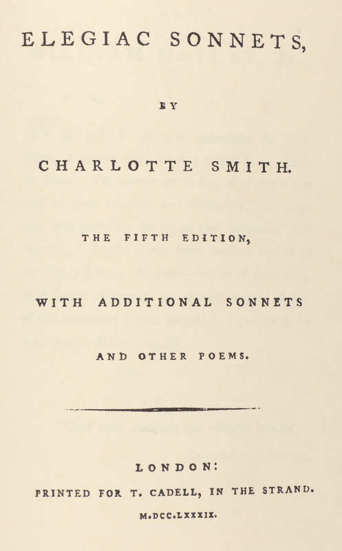 Elegiac sonnets, 1789- Title