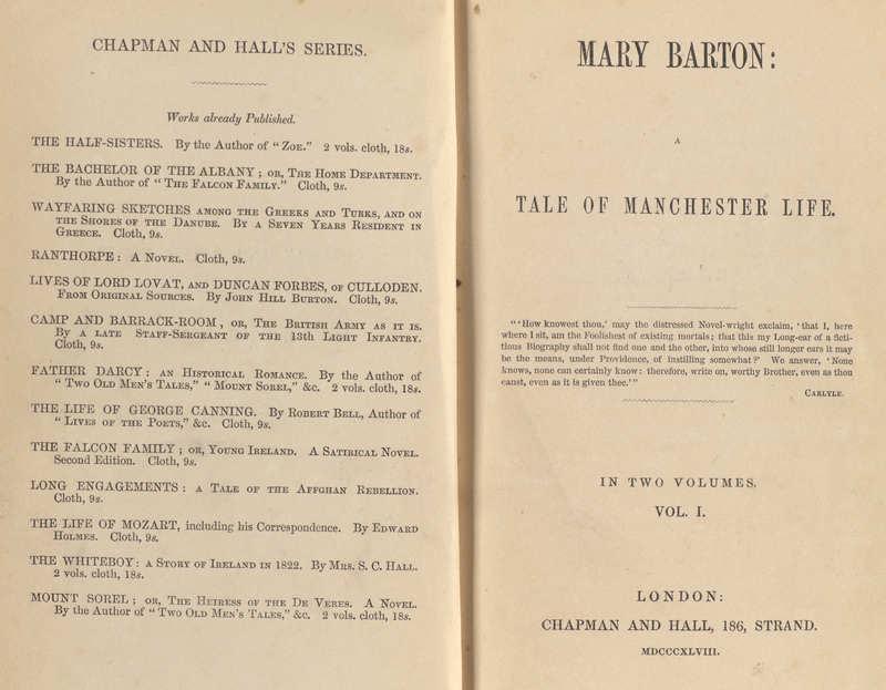 Mary Barton- Title