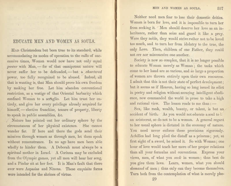 Woman in the Nineteenth Century and Kindred Papers- Page 336-7