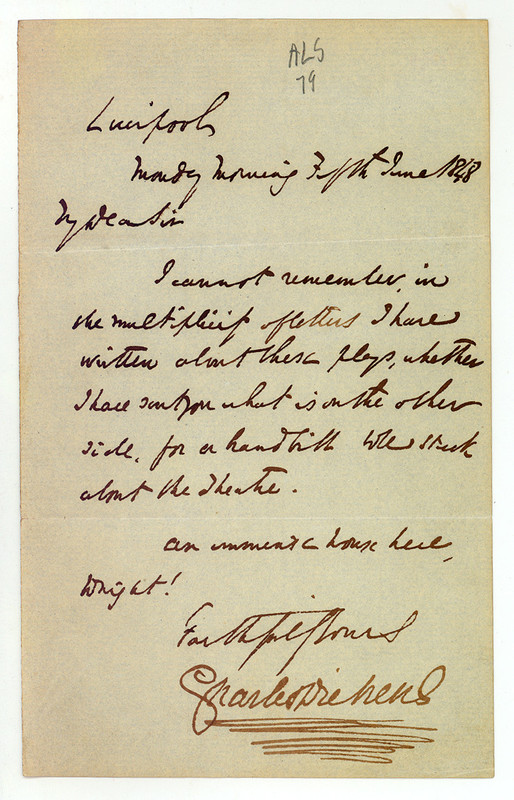 liverpool dickens letter i remain