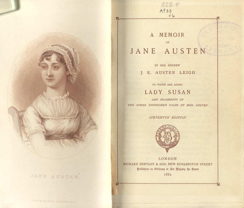 A Memoir of Jane Austen by Her Nephew (in Jane Austen's works)