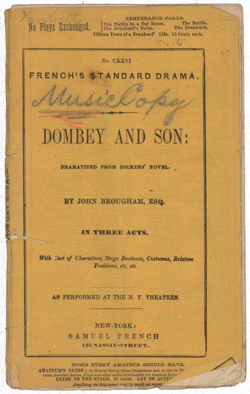 dombey and son play
