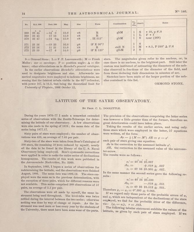 Astronomical journal