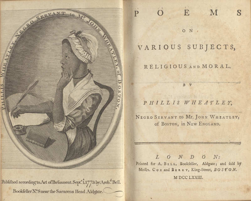Poems on Various Subjects, Religious and Moral- Frontispiece and Title