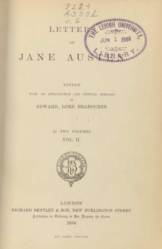 Letters of Jane Austen- Title