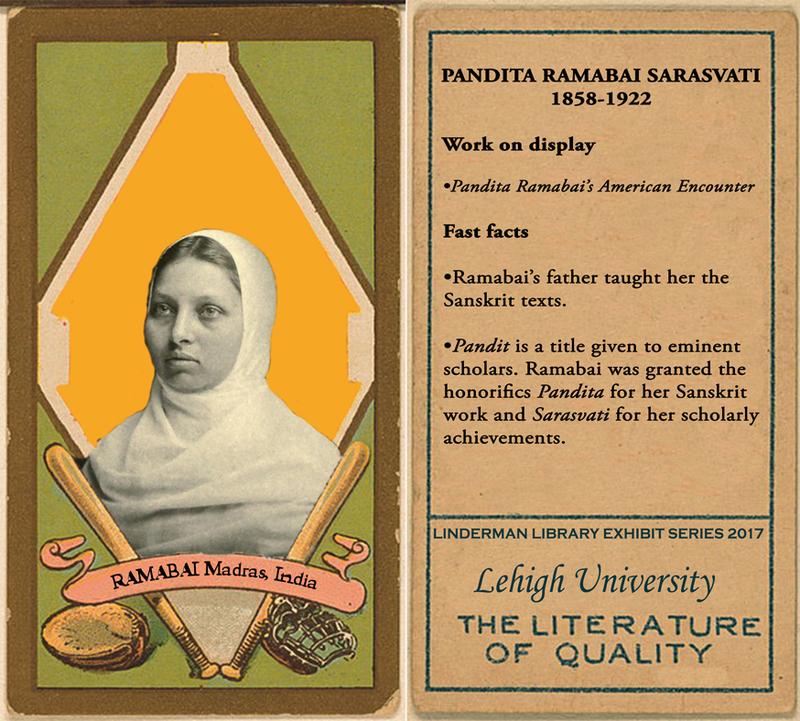 Pandita Ramabai Sarasvati Baseball Card