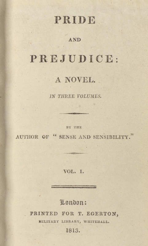 Pride and Prejudice- Title