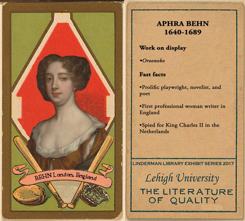 Aphra Behn Baseball Card