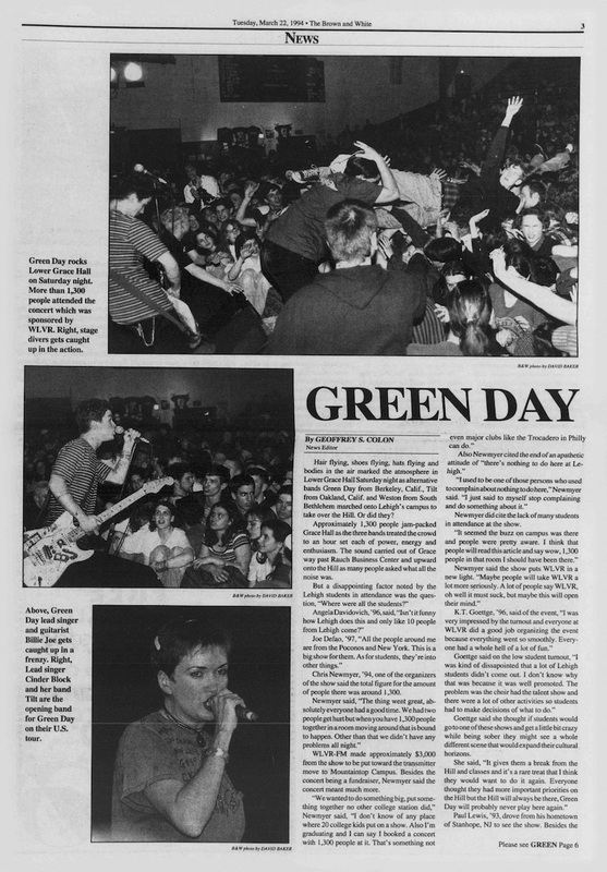 Green Day (Brown and White Vol. 101 no. 37)