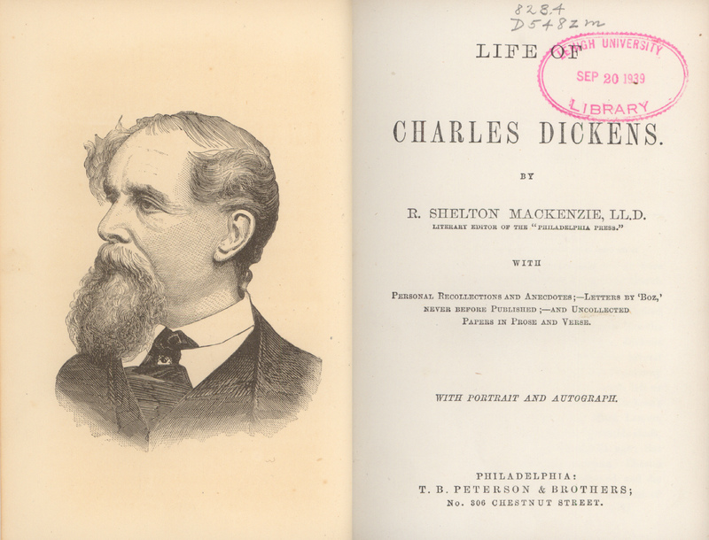 life of charles dickens title page