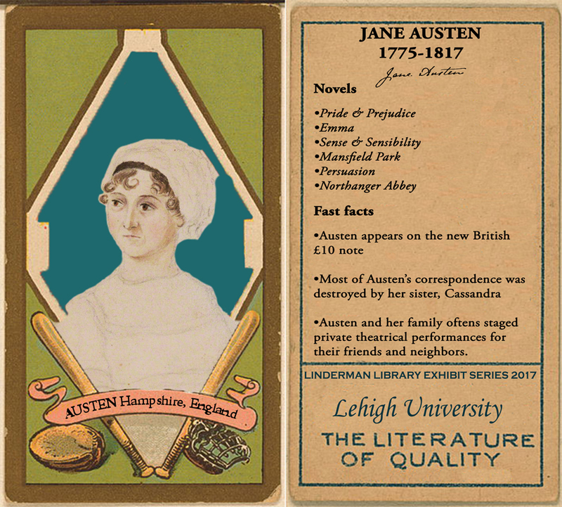 Jane Austen Baseball Card