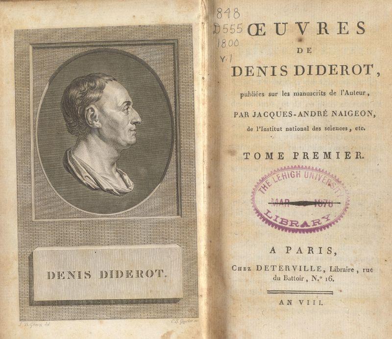Oeuvres de Denis Diderot.