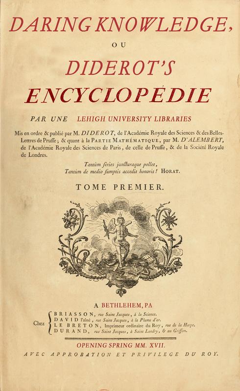 Daring Knowledge: Diderot's Encyclopedie Poster