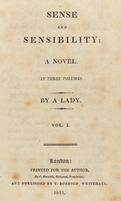 Sense and Sensibility- Title