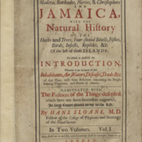 A Voyage to the Islands Madera, Barbados, Nieves, S. Christophers and Jamaica, with the Natural History of the Herbs and Trees, Four-Footed Beasts, Fishes, Birds, Insects, Reptiles, &c. of the Last of Those Islands; to which is prefix'd an introduction, wherein is an account of the inhabitants, air, waters, diseases, trade, &c. of that place?