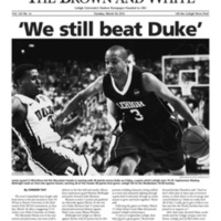 'We still beat Duke'; David beat Goliath (Brown and White Vol. 122 no. 14)