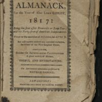 The New-England Almanack For the Year of Our Lord Christ 1817.