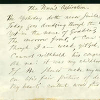 "[Manuscript] ""The Nun's Aspiration"" / [Ralph Waldo Emerson and Mary Moody Emerson]."