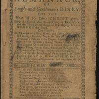 The New England Almanack or Lady?s and Gentleman?s Diary for the Year of our Lord Christ 1770.