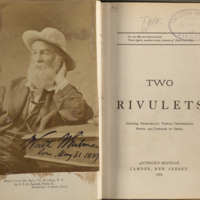 Two Rivulets. Including Democratic vistas, Centennial songs, and Passage to India.