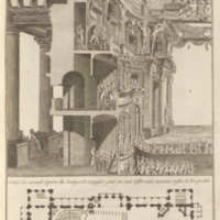 Volume 10, Theaters – The Stuttgart Playhouse (Théâtres – La salle de Stutgard) Plate I: Cut View of the New Opera at Stuttgart<br />