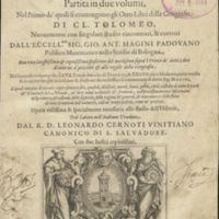 Geografia : cioè Descrittione vniversale della terra partita in due volumi nel primo de ̓quali si contengono gli otto libri della geografia