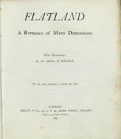 Flatland: A Romance of Many Dimensions.