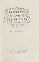 Travelers and Travel Liars, 1660-1800
