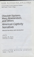 American Captivity Narratives: Selected Narratives with Introduction.